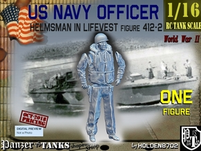 1/16 USN Officer Helmsman 412-2 in White Natural Versatile Plastic