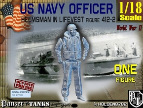 1/18 USN Officer Helmsman 412-2 in White Natural Versatile Plastic