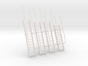 1/30 IJN Akagi Tower Stairs Set x4 in White Natural Versatile Plastic