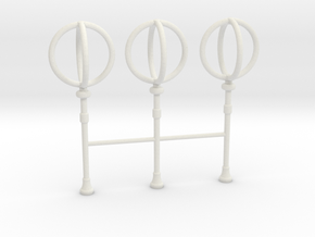 1/30 IJN Akagi Rangefinders Set x3 in White Natural Versatile Plastic