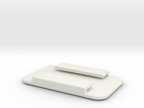PowerPuck Case back in White Natural Versatile Plastic