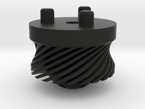 Emek/Etha 2 Bolt Cap - TURBINE in Black Natural Versatile Plastic