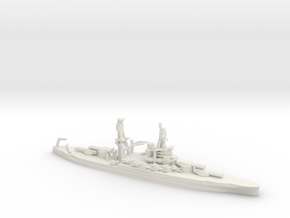 US Pennsylvania-Class Battleship in White Natural Versatile Plastic