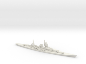 German Scharnhorst-Class Battleship in White Natural Versatile Plastic