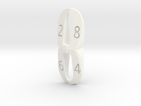 d8 eight shaped in White Processed Versatile Plastic