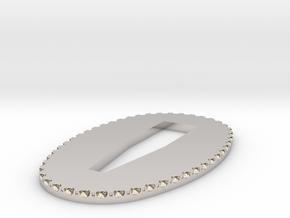 seppa 1.7mm in Rhodium Plated Brass