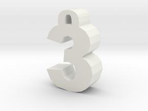 3 in White Natural Versatile Plastic: Medium
