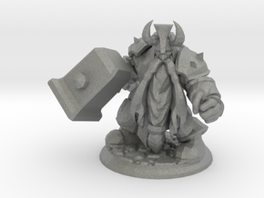 DWARF  WARRIOR  in Gray Professional Plastic