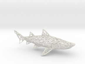 SHARK in White Natural Versatile Plastic