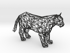 Panther wireframe in Black Natural Versatile Plastic