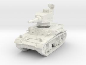 M2A4 tank scale 1/100 in White Natural Versatile Plastic
