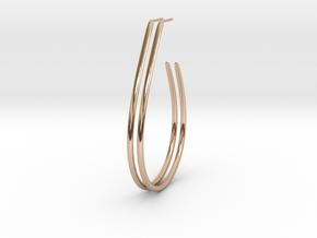 Teardrop Hoop Earrings in 14k Rose Gold Plated Brass