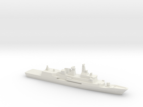 Anzac-class frigate (New Zealand Navy), 1/1800 in White Natural Versatile Plastic