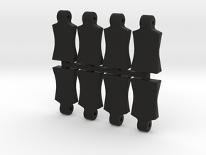 Body Clip Pull Tab UPDATED in Black Natural Versatile Plastic