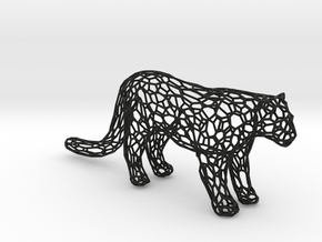 Leopard in Black Natural Versatile Plastic
