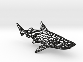 SHARK in Black Natural Versatile Plastic