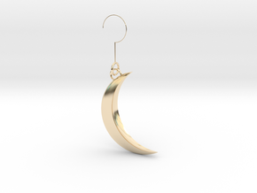 Luna earring in 14K Yellow Gold: Extra Small
