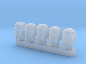 Valkyries Heads (small) in Smooth Fine Detail Plastic