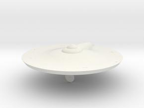 2500 TOS saucer v4 in White Natural Versatile Plastic