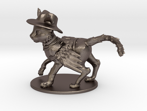 Ponyfinder Prototype - Purrsian Figure (metal) in Polished Bronzed Silver Steel