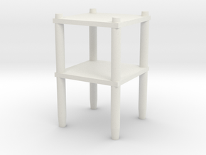 Table shelf in White Natural Versatile Plastic: Medium
