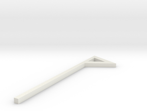 Small Triangle Flag Short Stem STL in White Natural Versatile Plastic