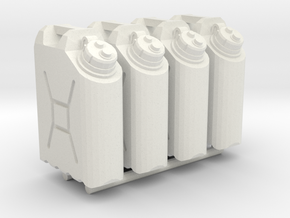 1:18 water cans X4 in White Natural Versatile Plastic