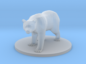 Brown Bear in Smooth Fine Detail Plastic