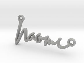 Naomi Script First Name Pendant in Aluminum