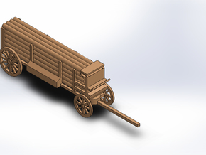 TELEGRAPH pole wagon in White Natural Versatile Plastic