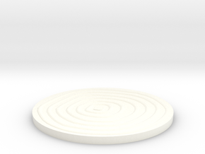 Wood Grain Coaster in White Processed Versatile Plastic