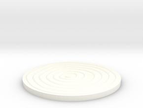 Wood Grain Coaster in White Processed Versatile Plastic