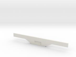 Light Bar and Plate Holder in White Natural Versatile Plastic