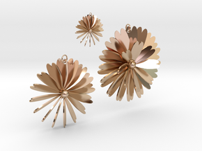 Flowers in 14k Rose Gold Plated Brass