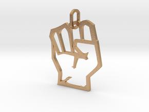 Avengers Hand Logo Pendant in Natural Bronze (Interlocking Parts)