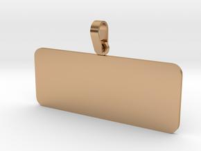 Pendant Base Rectangular 50 mm X 20 mm in Polished Bronze (Interlocking Parts)