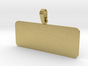 Pendant Base Rectangular 50 mm X 20 mm in Natural Brass (Interlocking Parts)