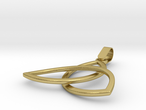 Trinity Pendant in Natural Brass (Interlocking Parts)