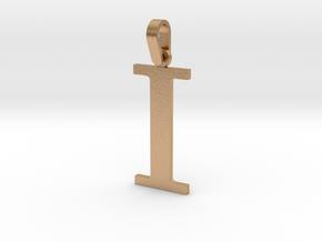 I Letter Pendant in Natural Bronze (Interlocking Parts)