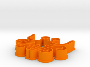Cookie cutter - Flying Spaghetti Monster in Orange Processed Versatile Plastic