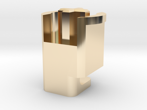 Topre to MX 6u Stabilizer Plunger (Right) in 14k Gold Plated Brass