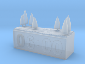 clock paperweight in Smoothest Fine Detail Plastic