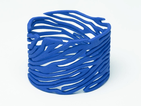 Bracelet Bluups ZEBRA in Blue Strong & Flexible Polished