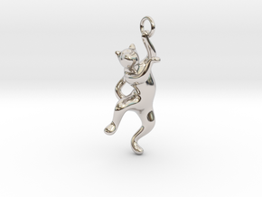 cat_006 in Rhodium Plated Brass