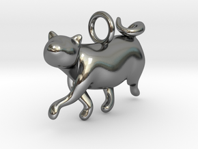 cat_009 in Polished Silver