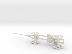 MORTAR WAGON in White Natural Versatile Plastic