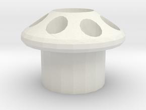 Mushroom Head in White Natural Versatile Plastic