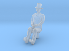 HO Scale Sitting Man in Smooth Fine Detail Plastic
