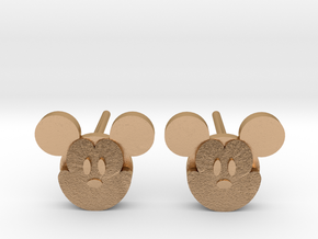 Mickey Mouse Earrings in Natural Bronze: Large