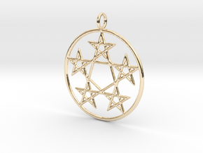 Creator Pendant in 14k Gold Plated Brass